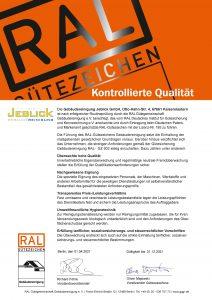 RAL Urkunde 2021